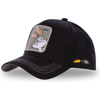 Boné curvo preto snapback Bugs Bunny BUN3 Looney Tunes da Capslab