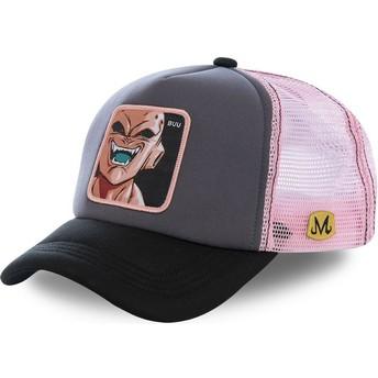 Boné trucker cinza e rosa Kid Buu BUU3M Dragon Ball da Capslab