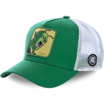 Boné trucker verde e branco Piccolo PIC1 Dragon Ball da Capslab