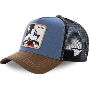 Boné trucker azul, preto e castanho Mickey Mouse MIC1 Disney da Capslab
