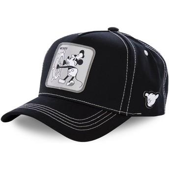 Boné curvo preto snapback Mickey Mouse Vintage VIN1 Disney da Capslab