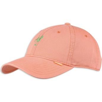 Boné curvo rosa ajustável Washed Girl da Djinns