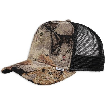Boné trucker multicolor We Love Ugly Cat2 da Djinns