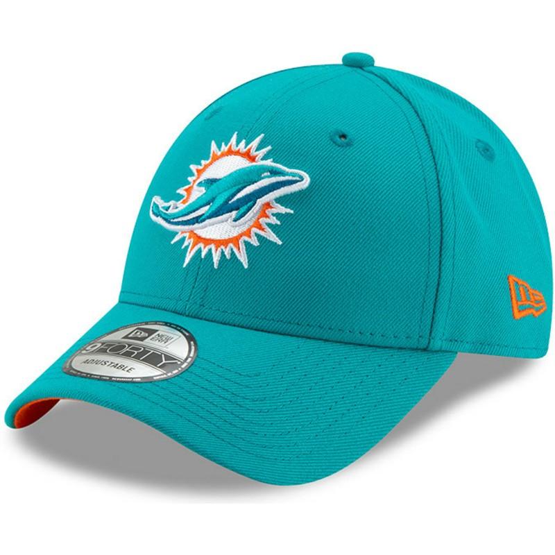 bd8a702cf Boné curvo azul ajustável 9FORTY The League da Miami Dolphins NFL da ...