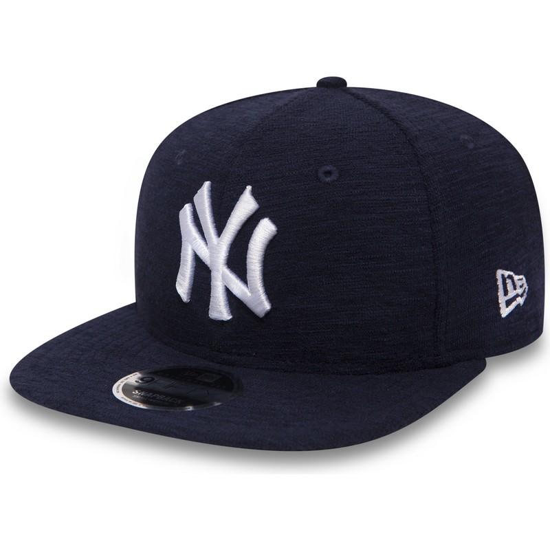 1d52b923eb388 ... Yankees MLB da New Era. bone-plano-azul-marinho-snapback-9fifty-slub-da-