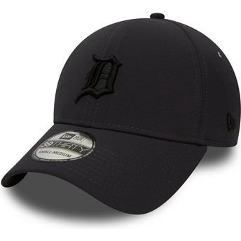 Boné curvo preto justo com logo preto 39THIRTY Team Clean da Detroit Tigers MLB da New Era