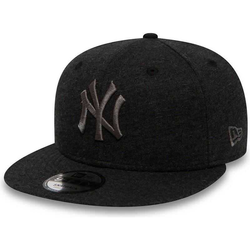 f2d933450794e ... York Yankees MLB da New Era. bone-plano-cinza-snapback-com-logo-cinza- 9fifty-