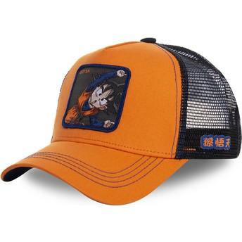 Boné trucker laranja Goten Fusion GTN1 Dragon Ball da Capslab