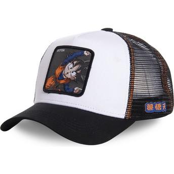 Boné trucker branco Goten Fusion GTN3 Dragon Ball da Capslab