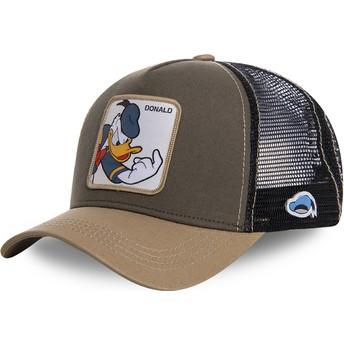 Boné trucker castanho Pato Donald DON1 Disney da Capslab