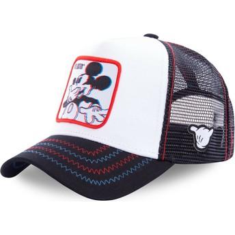 Boné trucker branco Mickey Mouse Floatin FLO Disney da Capslab