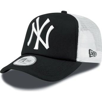 Boné trucker preto Clean A Frame da New York Yankees MLB da New Era