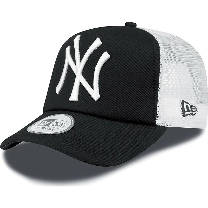 2c7a49e12 Boné trucker preto Clean A Frame da New York Yankees MLB da New Era ...