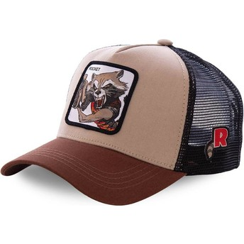 Boné trucker castanho Rocket Raccoon ROC1 Marvel Comics da Capslab