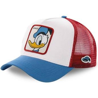 Boné trucker branco, vermelho e azul Pato Donald DUC2 Disney da Capslab