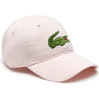 Boné curvo rosa claro ajustável Big Croc Gabardine da Lacoste
