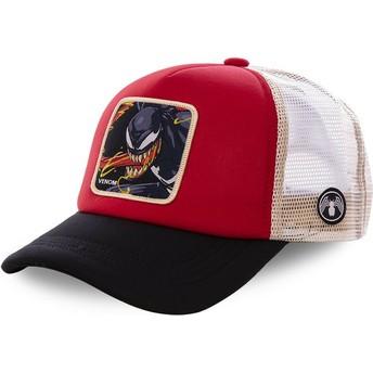 Boné trucker vermelho, branco e preto Venom VEN4M Marvel Comics da Capslab