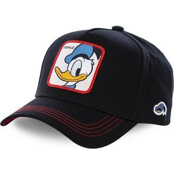 Boné curvo preto snapback Pato Donald DUC3 Disney da Capslab