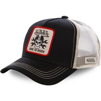 Boné trucker preto e branco GRN5 da Von Dutch