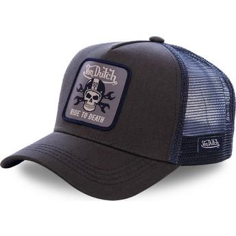 Boné trucker preto e azul GRN4 da Von Dutch