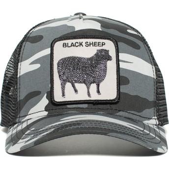 Boné trucker camuflagem preto ovelha Naughty Lamb da Goorin Bros.
