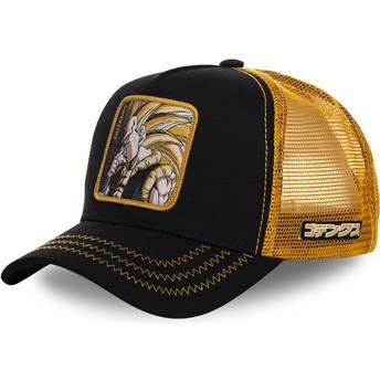 Boné trucker preto e amarelo Gotenks Super Saiyan 3 GOT2 Dragon Ball da Capslab