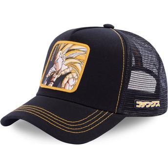 Boné trucker preto Gotenks Super Saiyan 3 GOT3 Dragon Ball da Capslab