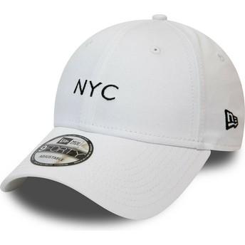 Boné curvo branco ajustável 9FORTY Seasonal NYC da New Era