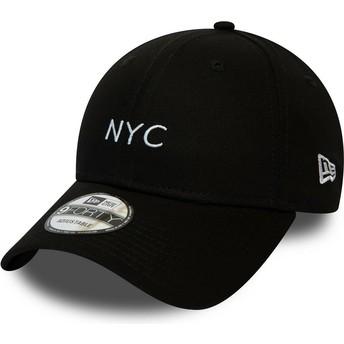 Boné curvo preto ajustável 9FORTY Seasonal NYC da New Era
