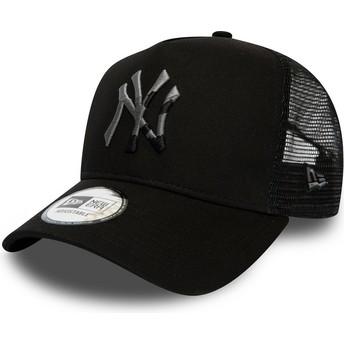 Boné trucker preto com logo camuflagem InFill A Frame da New York Yankees MLB da New Era