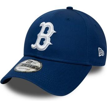 Boné curvo azul ajustável 9FORTY League Essential da Boston Red Sox MLB da New Era