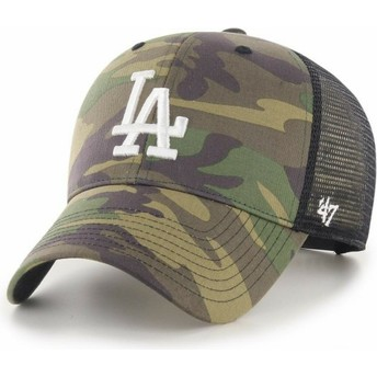 Boné trucker camuflagem com logo branco MVP Branson 2 da Los Angeles Dodgers MLB da 47 Brand