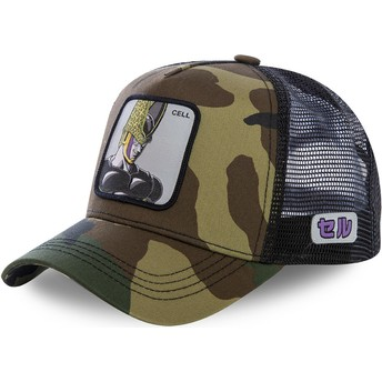 Boné trucker camuflagem Cell CEL Dragon Ball da Capslab