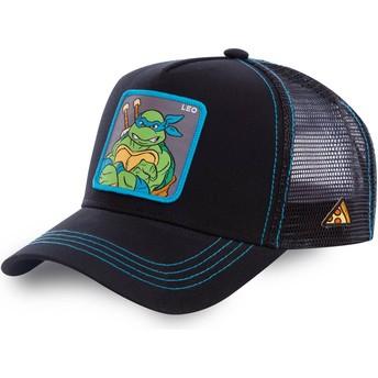 Boné trucker preto Leonardo LEO As Tartarugas Ninja da Capslab