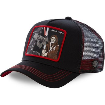 Boné trucker preto Darth Vader Vs Obi-Wan LTD2 Star Wars da Capslab