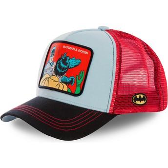 Boné trucker azul e vermelho Batman & Robin MEM1 DC Comics da Capslab