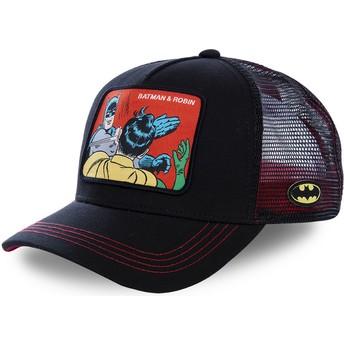 Boné trucker preto Batman & Robin MEM2 DC Comics da Capslab