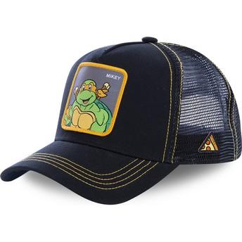 Boné trucker preto Michelangelo MIK As Tartarugas Ninja da Capslab