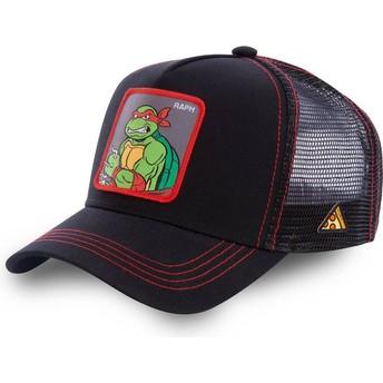 Boné trucker preto Raphael RAP As Tartarugas Ninja da Capslab