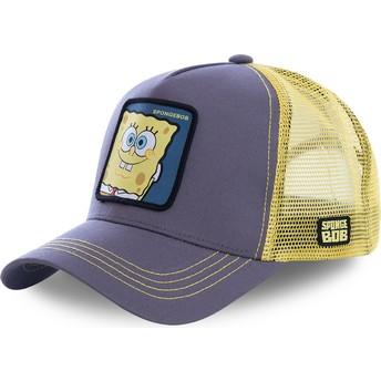 Boné trucker cinza e amarelo SpongeBob SquarePants SPO da Capslab