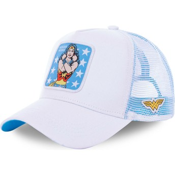Boné trucker branco Wonder Woman WON1 DC Comics da Capslab