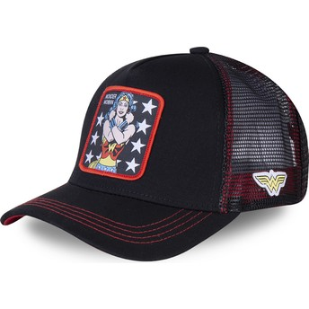 Boné trucker preto Wonder Woman WON2 DC Comics da Capslab