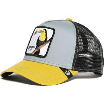 Boné trucker cinza e amarelo tucano Iggy Narnar da Goorin Bros.