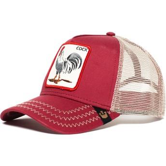 Boné trucker vermelho galo Rooster da Goorin Bros.