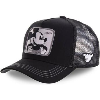 Boné trucker preto Mickey Mouse MIC5 Disney da Capslab