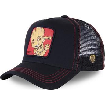 Boné trucker preto Baby Groot BGR3 Marvel Comics da Capslab