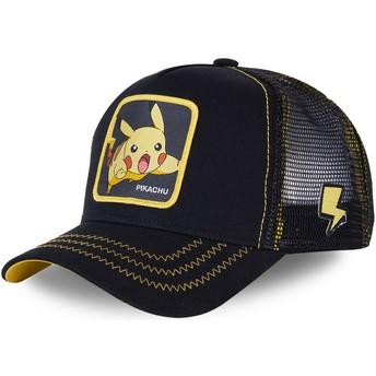 Boné trucker preto Pikachu PIK7 Pokémon da Capslab