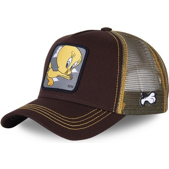Boné trucker castanho Piu-Piu TIT1 Looney Tunes da Capslab