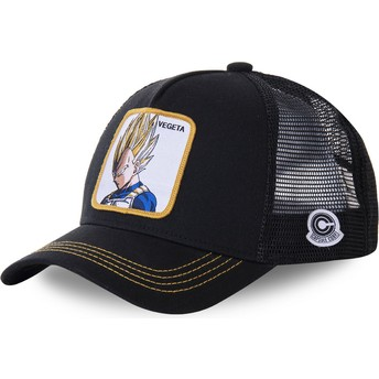 Boné trucker preto Vegeta Super Saiyan VE4 Dragon Ball da Capslab