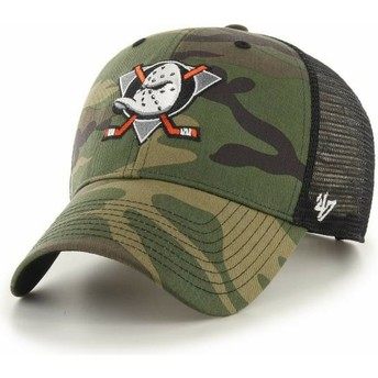 Boné trucker camuflagem MVP Branson da Anaheim Ducks NHL da 47 Brand